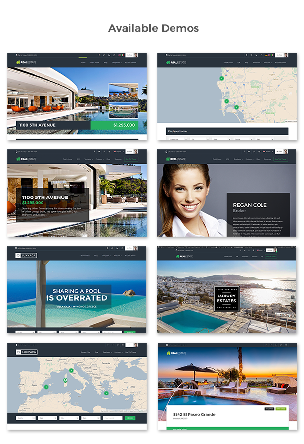 WP Pro Real Estate 7 Responsive WordPress Theme Features